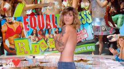 L'édito topless de Daphné Bürki pour sa première dans