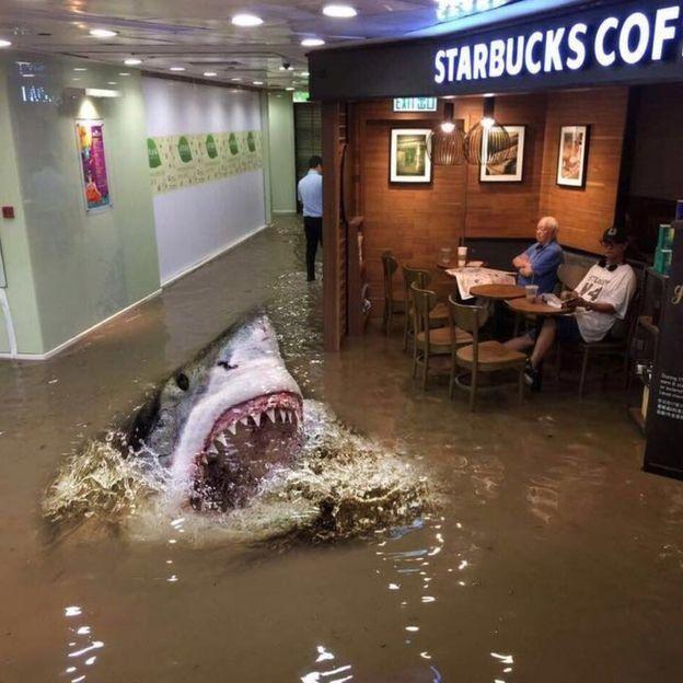 Les habitants de Hong Kong ne peuvent plus vivre normalement avec les inondations, sauf ce vieux