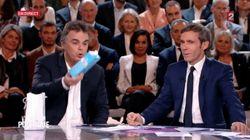 Alexandre Jardin jette une brique de lait à Le Maire. C'est quoi cette bouteille de