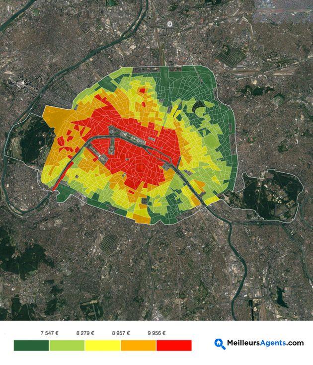 Quartier par quartier, la carte des prix de l'immobilier à Paris (et leur
