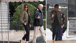 Les talons aiguilles de Melania Trump pour visiter le Texas inondé sont vraiment mal