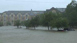 La montée des eaux de la tempête Harvey en