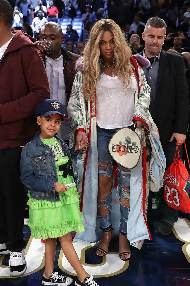 Sortie en famille au NBA All-Star Game pour Beyoncé, Blue Ivy et