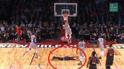 Pour éviter l'humiliation, ce joueur NBA a une technique...