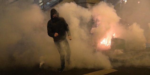 Manifestation à Paris le 15 février 2017 après l'arrestation de Théo à Bobigny. REUTERS/Christian