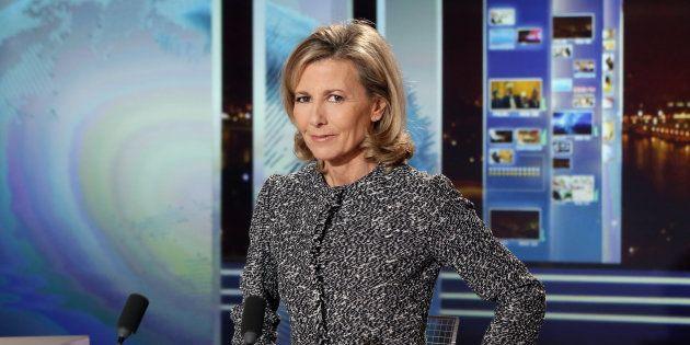 Claire Chazal, ici sur le plateau de TF1 en 2013, fera ses débuts sur la chaîne France Info au mois de