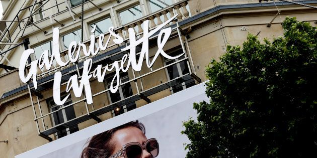 View of the logo of Galeries Lafayette department store in Paris, France, June 13, 2016. REUTERS/Jacky