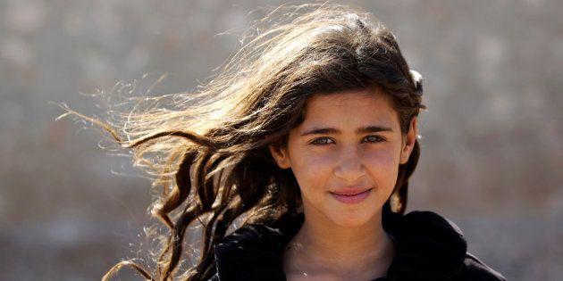 Doaa, âgée de 10 ans à Alep en Syrie,