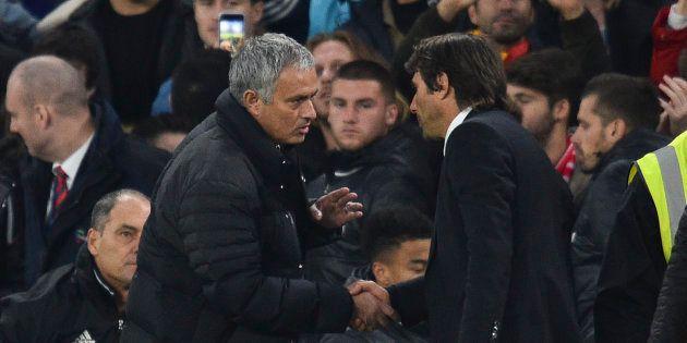 Sèchement battu, Mourinho n'a pas du tout apprécié les célébrations de son homologue italien, Antonio