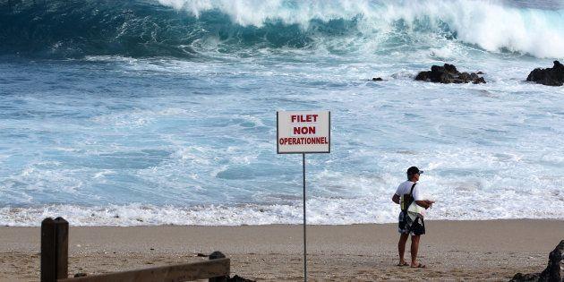 Sur la plage de Boucan Canot à La Réunion le 28 août
