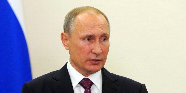 Le président russe Vladimir Poutine à Berlin, le 20 octobre 2016. (Mikhail Klimentyev/Pool Photo via