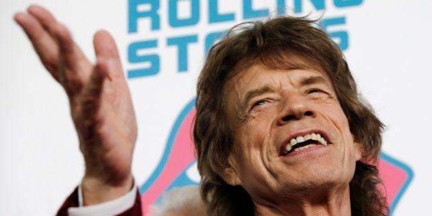 Mick Jagger à New York le 15 novembre 2016 pour la première de l'exposition sur les Rolling