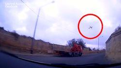 Le crash de l'avion à Malte filmé par un