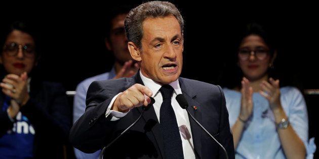 Nicolas Sarkozy en meeting le 9 octobre 2016. REUTERS/Philippe