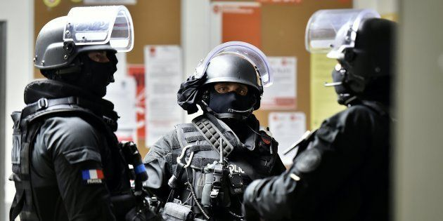Des policiers du Raid lors d'un exercice en avril 2016 à