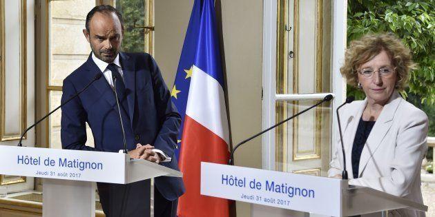 Le Premier ministre Edouard Philippe et la ministre du Travail Muriel Pénicaud à Matignon le 31
