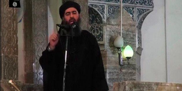 Une image de Abou Bakr al-Baghdadi diffusée le 5 juillet