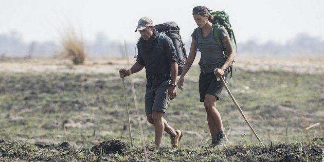 Mike Horn et Laure Manaudou ont traversé seuls la savane du
