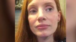 Jessica Chastain émue aux larmes dans une vidéo publiée sur