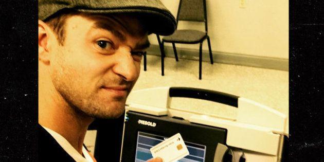 En prenant un selfie dans un bureau de vote, Justin Timberlake s'attire des ennuis avec la