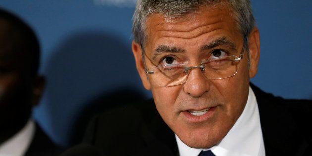 George Clooney à Washington le 12 septembre