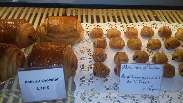 On a trouvé le pain au chocolat de Copé dans une boulangerie de