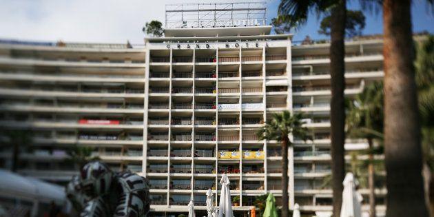 La façade du Grand Hôtel de Cannes en