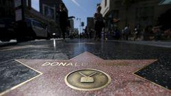 L'étoile de Trump vandalisée sur le Walk of Fame à