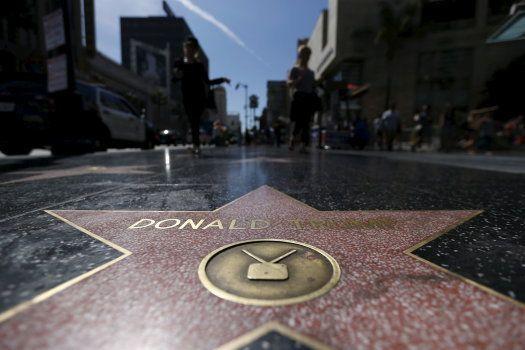 L'étoile de Donald Trump vandalisée sur le Walk of Fame à