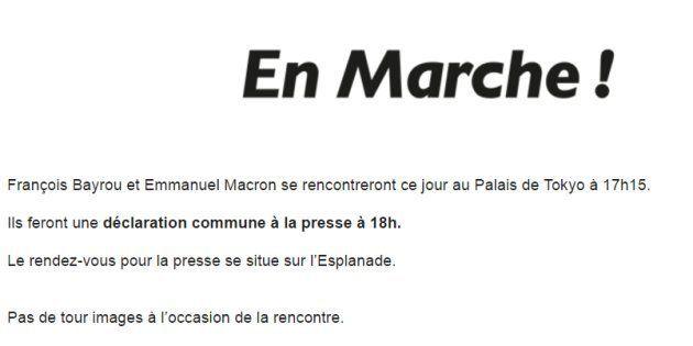 Le Palais de Tokyo dément que la rencontre Macron-Bayrou a lieu au