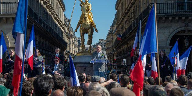 Le FN lors de son rassemblement du 1er mai. (Photo by Aurelien Meunier/Getty