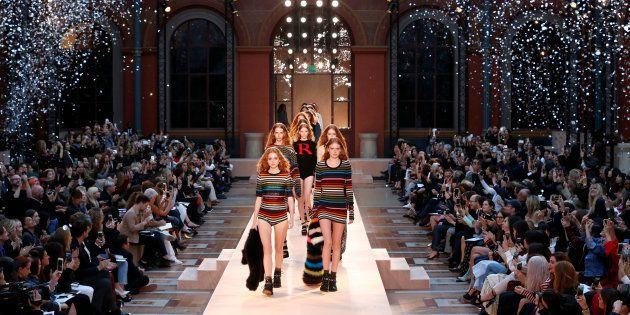 Le défilé de la maison Sonia Rykiel lors de la Fashion Week à Paris le 3 octobre