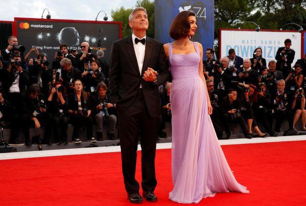 George et Amal Clooney resplendissants sur leur 1er tapis rouge depuis la naissance des
