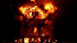 Un homme meurt après s'être précipité dans les flammes lors de Burning