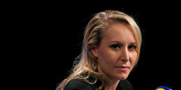 Marion Maréchal Le Pen, avant un débat télévisé, en décembre