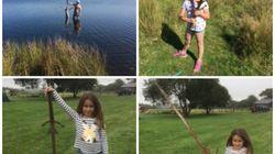 Cette petite fille a trouvé une épée dans le lac où Excalibur aurait