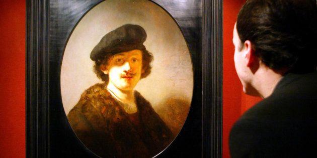 Un autoportrait de Rembrandt à 28