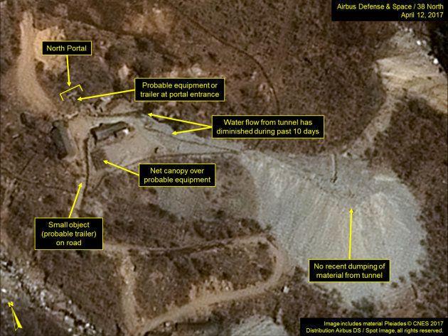 Le fameux site d'essais nucléaire nord-coréen de