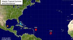 Derrière Irma, un second ouragan et une dépression tropicale se