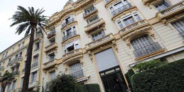 L'immeuble de Jacqueline Veyrac à Nice, où elle a été enlevée le 25