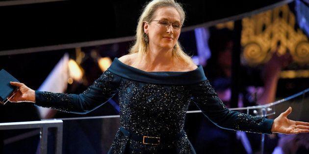 L'actrice Meryl Streep lors de la 89ème cérémonie des Oscars ce dimanche 26