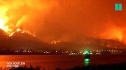 Cette vidéo montre comment un incendie a ravagé une montagne aux