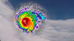 Dans l'œil du cyclone Irma: Les images crépusculaires d'une accalmie de courte