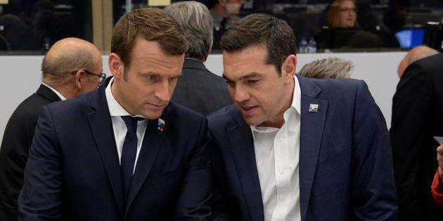 Emmanuel Macron va rencontrer Alexis Tsipras lors de son voyage en
