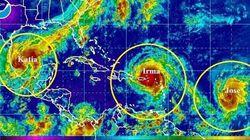 Les tempêtes Jose et Katia deviennent des