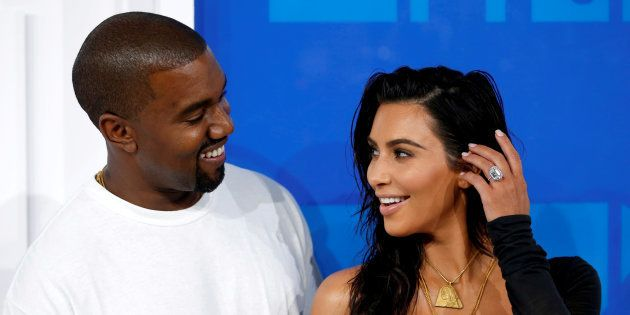 Kanye West et Kim Kardashian à New York le 28 août