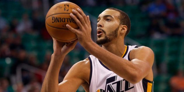 Rudy Gobert le 12 octobre 2016 à Salt Lake