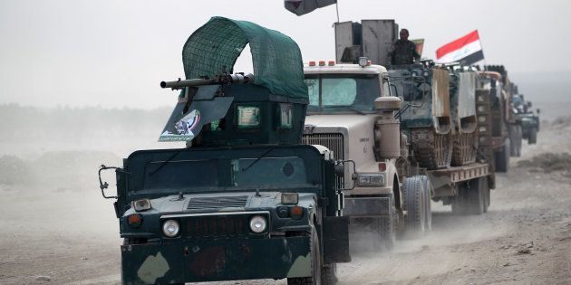 Des soldats irakiens près de Mossoul le 31 octobre
