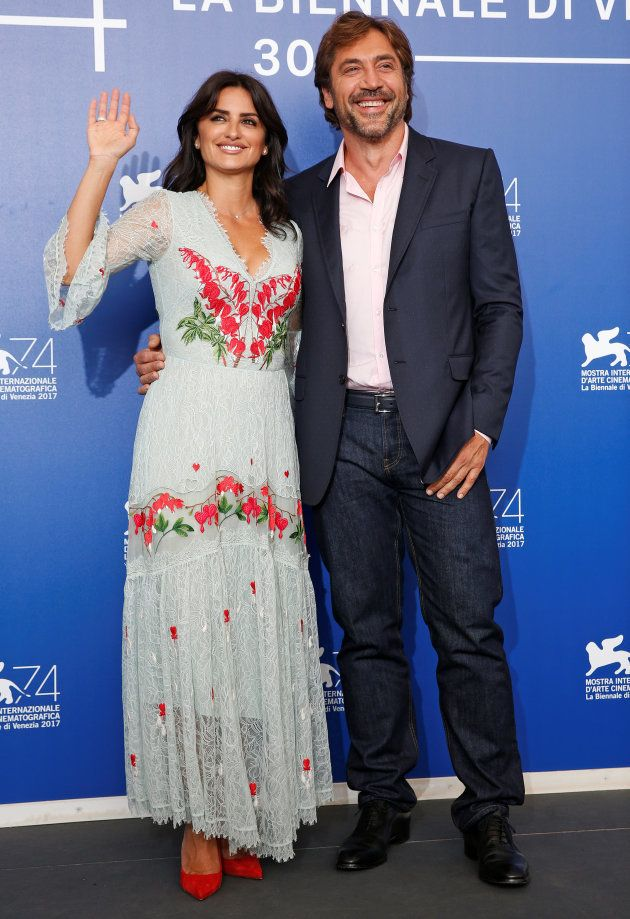 Actors Penelope Cruz and Javier Bardem pose during a photocall for the movie
