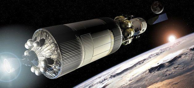 Le vaisseau imaginé par la Nasa pour retourner sur la Lune, à l'époque du programme